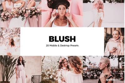 20 Blush Lightroom Presets & LUTs