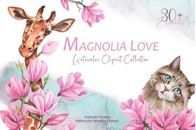 Magnolia Love Watercolor Collection
