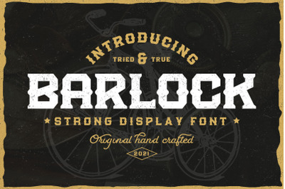 Barlock - Strong Display Font