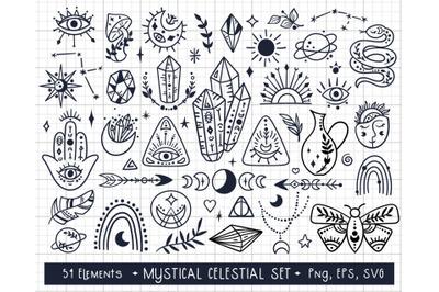 Mystical SVG - kids clipart set