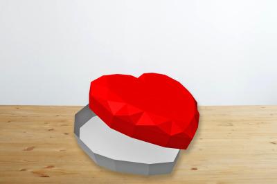 DIY Valentine Heart favor  - 3d papercraft
