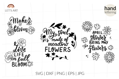 Wildflower svg t shirt quotes bundle. Spring quotes svg for shirts