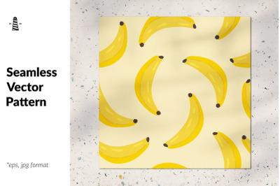 Hand drawn bananas seamless pattern