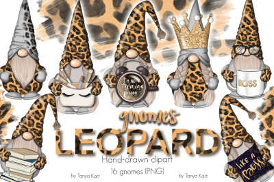 Leopard Gnomes Icons