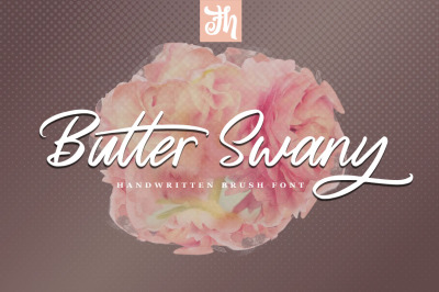 Butter Swany - Handwritten Font
