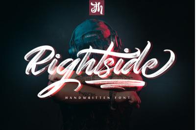Rightside - Handwritten Font
