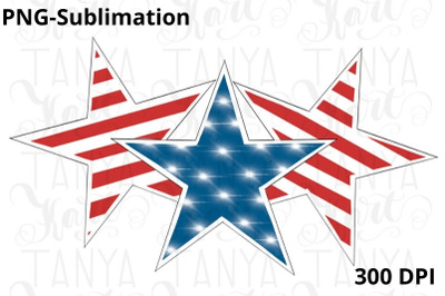 American Stars Sublimation Png