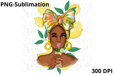 Afro Woman | Png Sublimation Design
