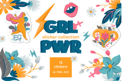 Girl Power Sticker Collection