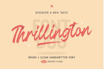 Thrillington || FONT DUO