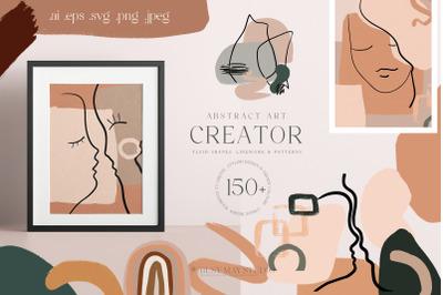 Abstract Art Organic Shape Creator Lines Posters Wall Art