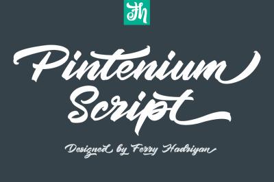 Pintenium - Script Font