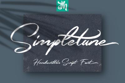 Simpletune - Handwritten Script Font