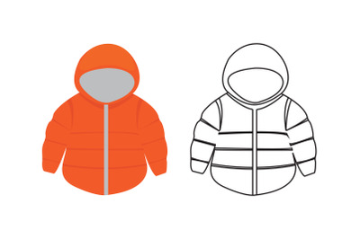 Camping jacket Fill Outline Icon