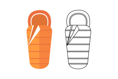 Camping Sleeping Bag Fill Outline Icon