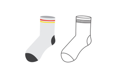 Camping Socks Fill Outline Icon