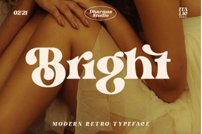 Bright - Modern Retro Typeface