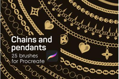 Chains & pendants Procreate brushes
