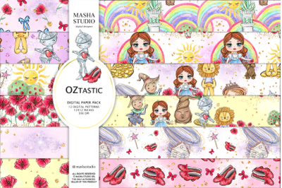WIZARD OF OZ digital papers