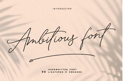 Ambitious - handwritten font