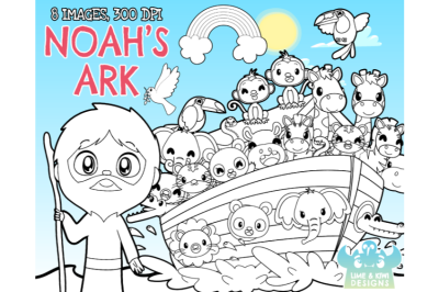 Noah's Ark Digital Stamps - Lime and Kiwi Designs