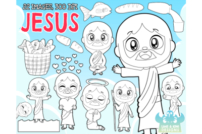 Jesus Digital Stamps - Lime and Kiwi Designs