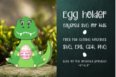 Tyrannosaurus-Chocolate Egg Holder template SVG