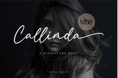 Callinda a Signature Font