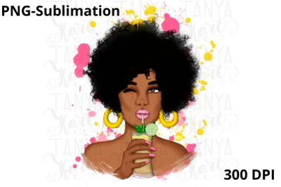 Sublimation Png | Afro Woman