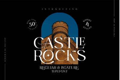 CASTLE ROCKS DUO -Ligature Font