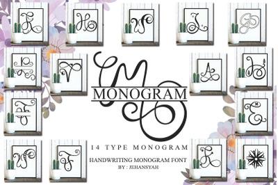 Monogram Handwriting family font