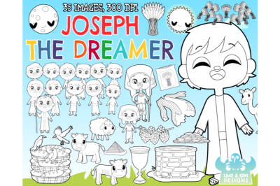 Joseph The Dreamer Digital Stamps - Lime and Kiwi Designs