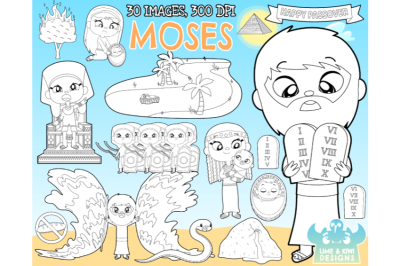 Moses Digital Stamps - Lime and Kiwi Designs