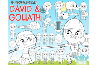 David & Goliath Digital Stamps - Lime and Kiwi Designs