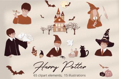 Harry Potter  Illustration Set