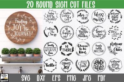 Round Sign Bundle - Volume 2 - Round SVG Files - Farmhouse Signs