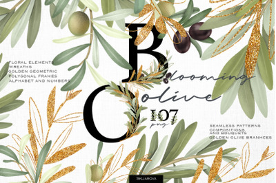 Blooming olive collection