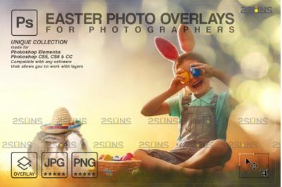 Easter backdrop & Photoshop overlay: Easter bunny overlay