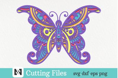 3D Butterfly Mandala Svg&2C; 3D Layered Butterfly Svg&2C; Butterfly Svg