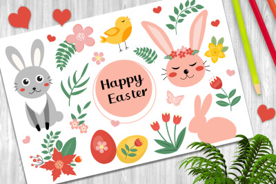 Happy Easter cute collection