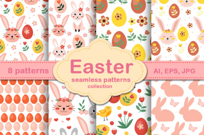 Happy Easter cute patterns