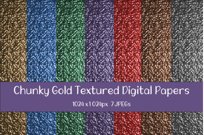 Chunky Gold Texture Digital Papers