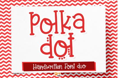 Polka Dot Font Duo