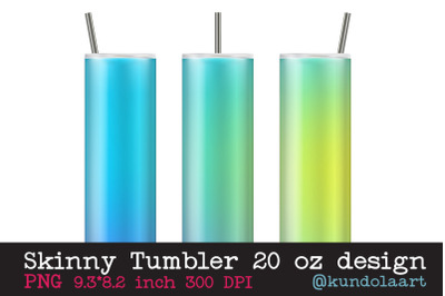 Skinny tumbler sublimation rainbow multicolor template 20oz