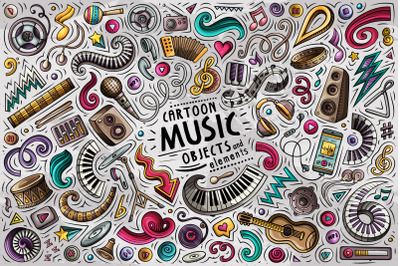 Music Cartoon Objects Set