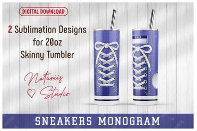 2 Sneaker Shoe patterns for 20oz SKINNY TUMBLER