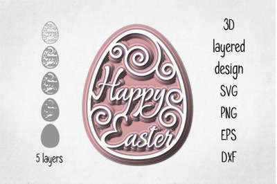 3D layered Easter decoration