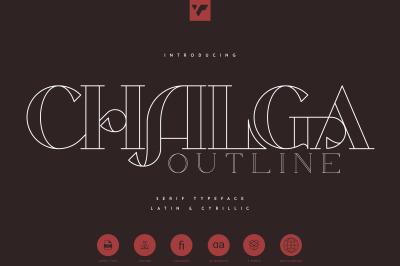 Chalga Outline - Serif Typeface