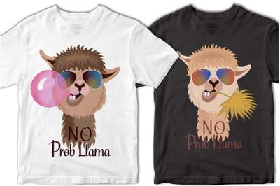 No Prob llama SVG. Llama SVG. Funny Llama phrase svg. Llama file, eps