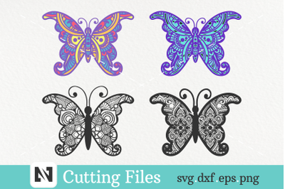 Butterfly Mandala Svg, 3D Butterfly Mandala Svg, Butterfly Svg